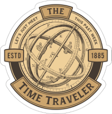 Time Traveler Sticker Free CDR Vectors Art