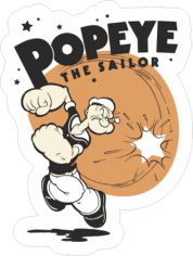 Popeye The Sailor Sticker Free CDR Vectors Art