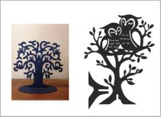Owl Jewellery Tree – Hanger Free CDR Vectors Art