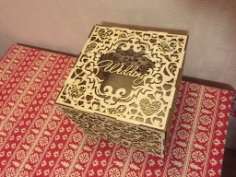 Wedding Box Laser Cutting Free CDR Vectors Art