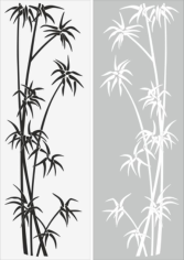 Young Tree Sandblast Pattern Free CDR Vectors Art