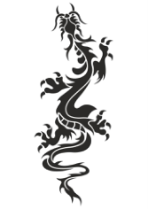 Chinese Dragon Tattoo Free CDR Vectors Art