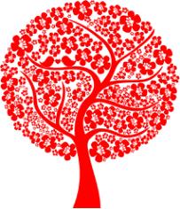 Abstract Love Tree Free CDR Vectors Art