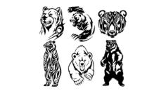 Tribal Bear Free CDR Vectors Art
