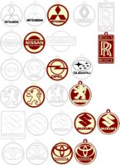 Car Logo Keychain Free CDR Vectors Art