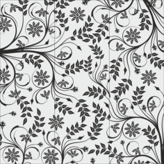 Flowers Glass Sandblasting Design Free CDR Vectors Art