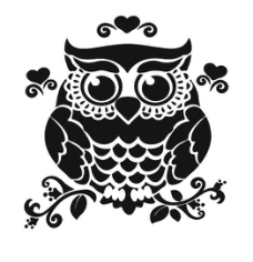 Owl On Branch Silhouette Free CDR Vectors Art