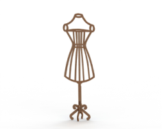 Mannequin MDF Dress Form Laser Cut 6mm Free CDR Vectors Art