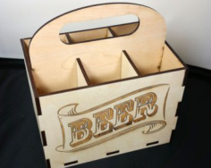 6 Pack Beer Holder Free CDR Vectors Art