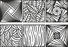 Ornament Pattern Set Free CDR Vectors Art