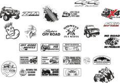 Off Road Stickers Pack Free CDR Vectors Art