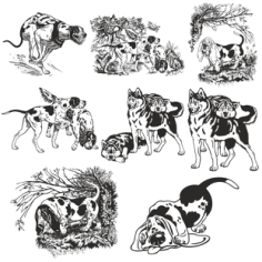 Dogs vector collection Free CDR Vectors Art