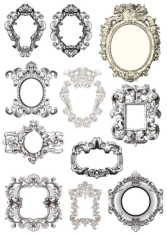 Baroque Frames Free CDR Vectors Art