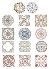 Vintage Ornaments Set Free CDR Vectors Art