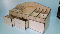 Large Wooden Desk Organizer Free CDR Vectors Art