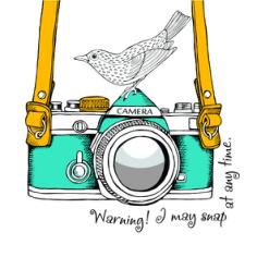 Abstract Camera Bird Free CDR Vectors Art