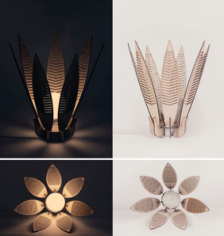 Decorative Flower Lamp Shade Laser Cut Free CDR Vectors Art