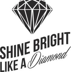 Shine Bright Like A Diamond Sticker Free CDR Vectors Art