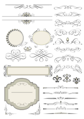 Vintage Set Decor Elements Free CDR Vectors Art