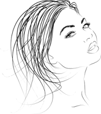 Beautiful woman outline Clip Art Free CDR Vectors Art