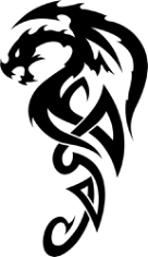 Celtic Dragon Tattoo Free CDR Vectors Art