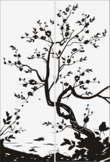 Tree Scenery Sandblast Pattern Free CDR Vectors Art