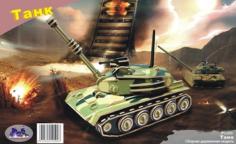 Tank 3D Puzzle Laser Cut Free CDR Vectors Art