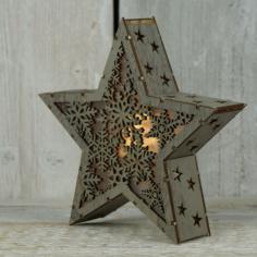 Star Light Lamp Laser Cut Free CDR Vectors Art