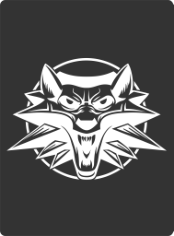 White Wolf Sticker Free CDR Vectors Art