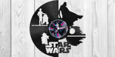 Star Wars Clock Plans Darth Vader Yoda  Free CDR Vectors Art