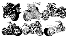 Motorcycle Club T-Shirt Design Free CDR Vectors Art