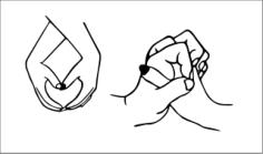 Sweet hands love Free CDR Vectors Art