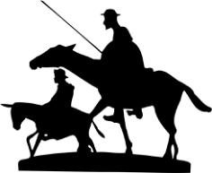Don Quixote Free CDR Vectors Art