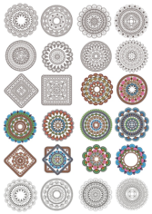 Ornament Set Free CDR Vectors Art