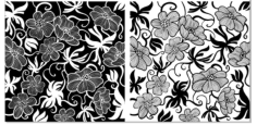 European Art Deco Floral Free CDR Vectors