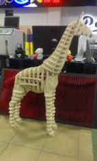 3D Puzzle Giraffe Free CDR Vectors Art