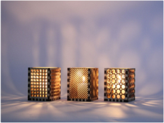 Laser Cut Candle Holder Free CDR Vectors Art