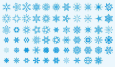 Snowflakes Collection Free CDR Vectors Art