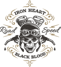 Iron Heart Print Free CDR Vectors Art