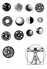 Round Pattern Circular Ornament Elements Free CDR Vectors Art