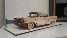 Chevrolet Bel Air 1957 file for laser cutting CNC Free CDR Vectors Art