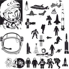Astronaut Free CDR Vectors Art