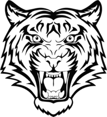 Tiger Head Free CDR Vectors Art