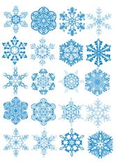 Snowflackes Free CDR Vectors Art