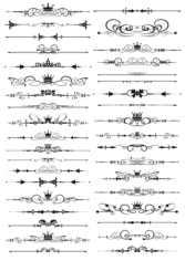 Ornate Border Elements Free CDR Vectors Art