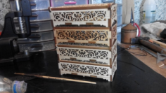Decorative Box Laser Cut CNC Plans Free CDR Vectors Art