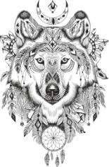 Wolf Dreamcatcher Free CDR Vectors Art