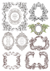 Fancy Border Set Free CDR Vectors Art