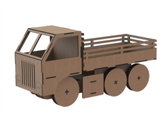 Truck Toy Laser Cut Free CDR Vectors Art