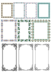 Elegant Decorative Frame Borders Free CDR Vectors Art